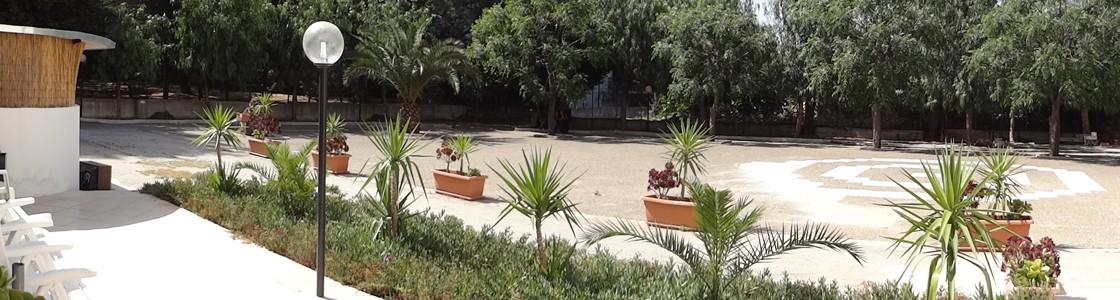 Il giardino per le attività all'aperto